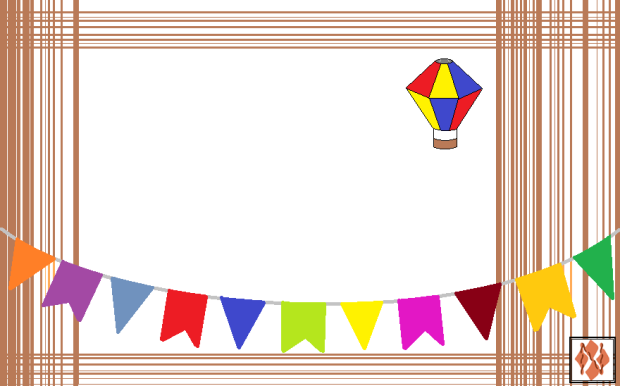 Convite de festa Junina - balão