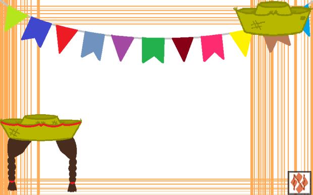 Convite de festa Junina - chapéu de palha
