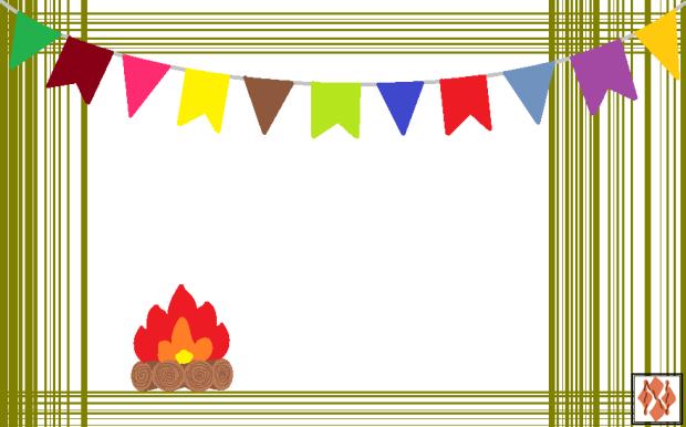 Convite de festa Junina - fogueira